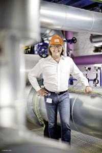 Andreas Bach von TWL ist stolz auf die Power-to-Heat-Anlage