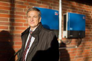 Richard Kuhn ist zufrieden mit der Zusammenarbeit mit der Bürgerenergie Ludwigshafen. (Bild: Alexander Grüber)