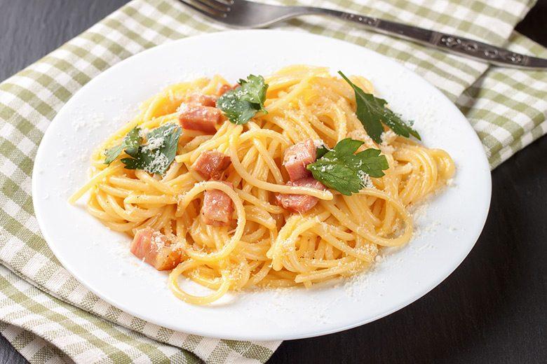 Energieschub für David Schmidt: Ein Teller Spaghetti Carbonara
