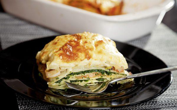 Spinat-Lachs-Lasagne wie sie Lisa Ryzih liebt