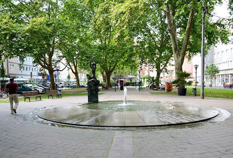 Die Brunnen auf dem Ludwigsplatz machen Lust auf Sommer