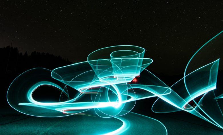 Die Lichtmalerei begeistert Fotofans