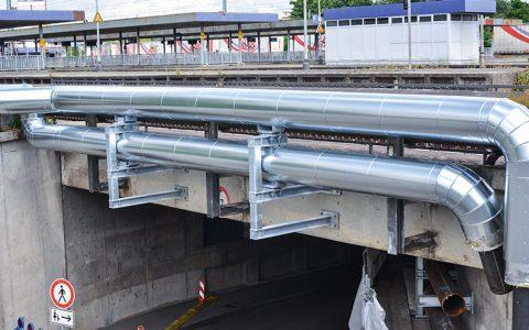 Fernwärme für Ludwigshafen-Süd fließt durch den Posttunnel