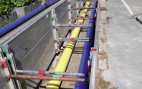 Neue Gashochdruckleitung in der Innenstadt